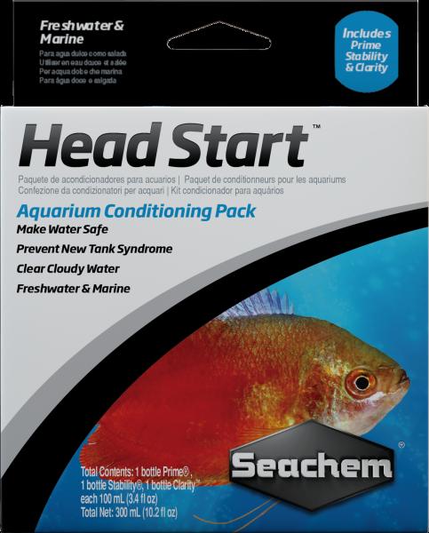 SEACHEM - Head Start, includes Prime, Stability & Clarity - 100ml