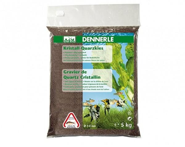Dennerle Kristall-Quarzkies Dunkelbraun - 5 kg