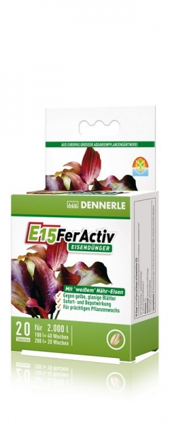 Dennerle Perfect Plant E15 FerActiv Eisendünger - 20 Tabs