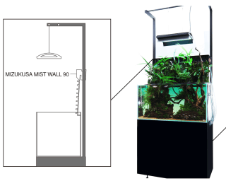 DOOA - Steel Cabinet for Mizukusa Mist Wall 90
