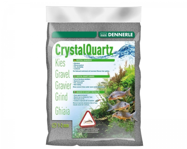 Dennerle Color Quartz Gravel - light grey - 5 kg